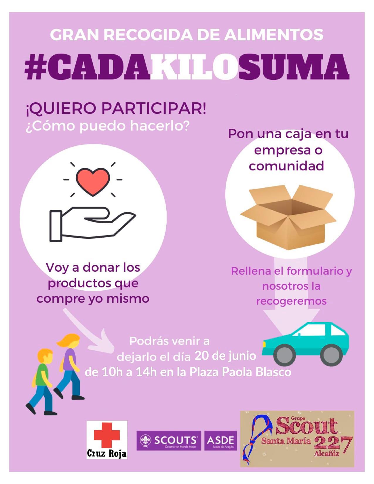 Cartel de la recogida de alimentos./ Scouts de Alcañiz