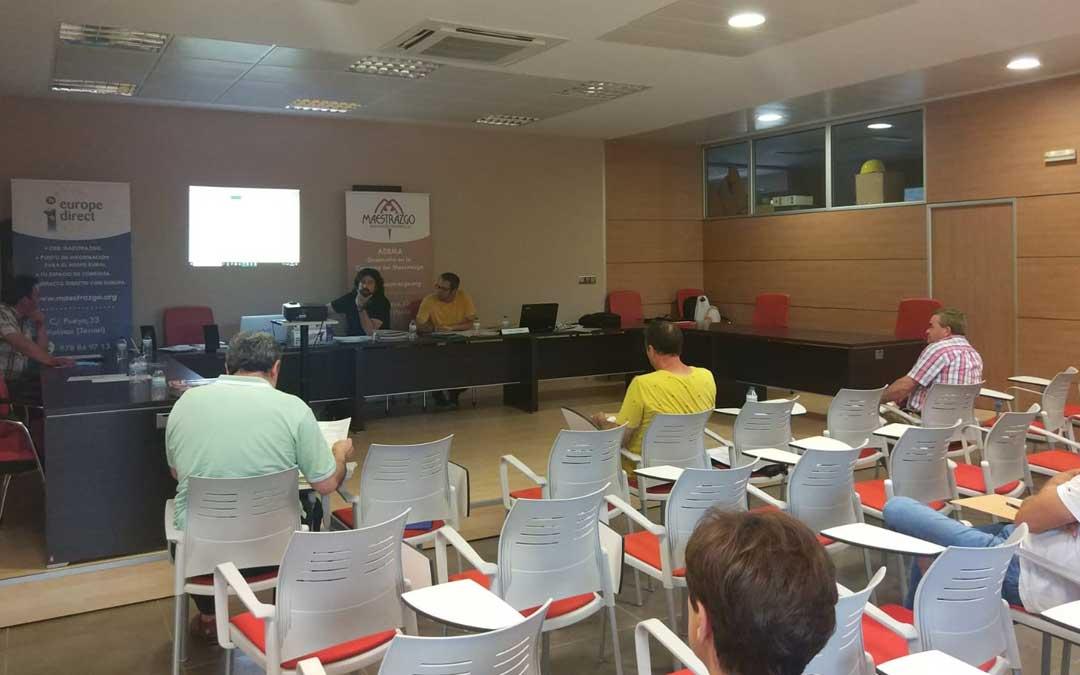 La reunión de ADEMA tuvo lugar en la sede comarcal en Cantavieja