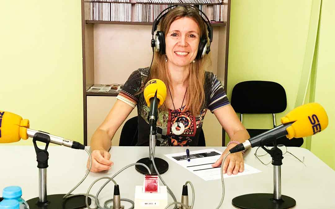 Merche Catalán es secretaria de la delegación de UNED Caspe
