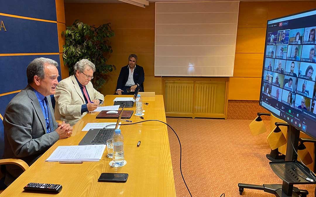 El pleno de la Diputación Provincia de Zaragoza ha tenido lugar, vía telemática, este viernes./ DPZ