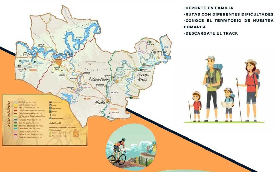 Rutas para recorrer la Comarca del Bajo Aragón-Caspe en bici o a pie