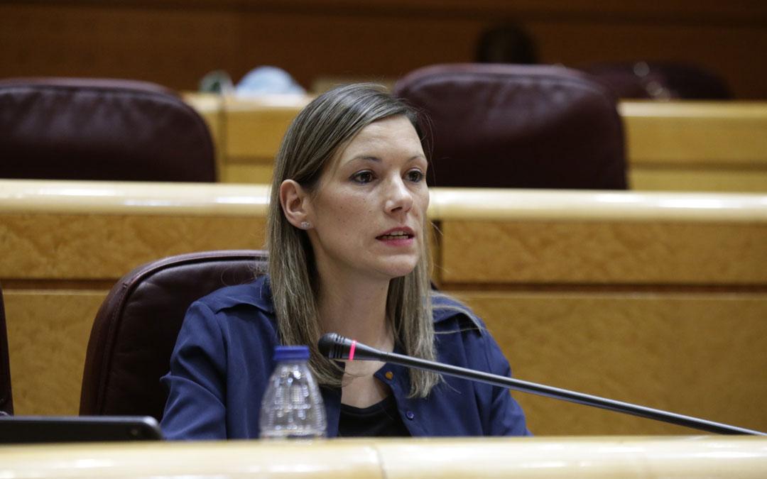 La senadora de Teruel Existe, Beatriz Martín. / Teruel Existe