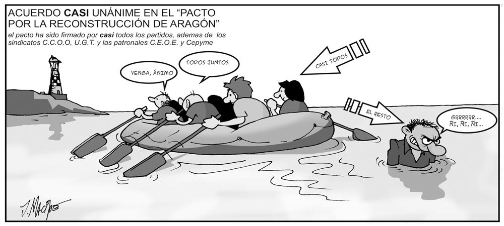 Humor gráfico - pacto-reconstrucción-Aragón