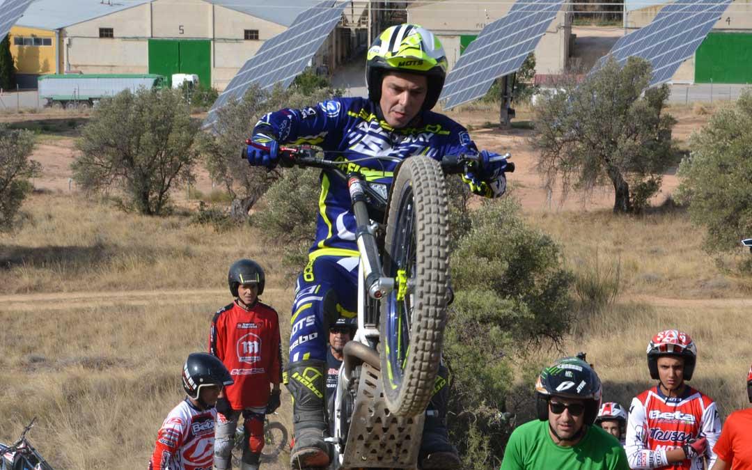 El piloto de trial valderrobrense Sergio Puyo