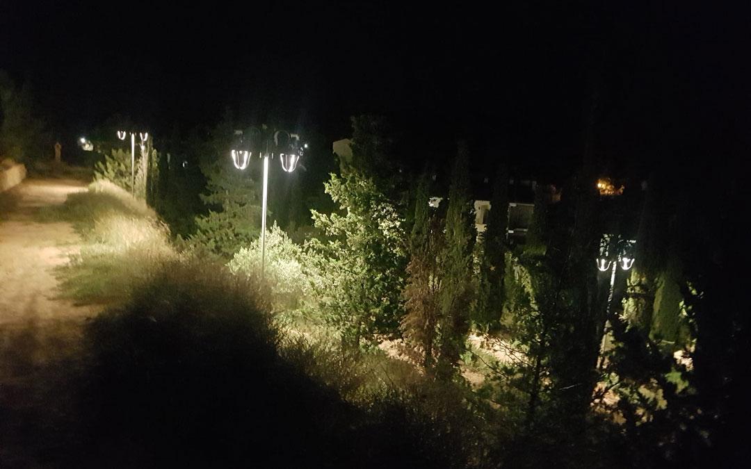El Calvario ya con la nueva iluminación Led. / Ayto. Urrea de Gaén