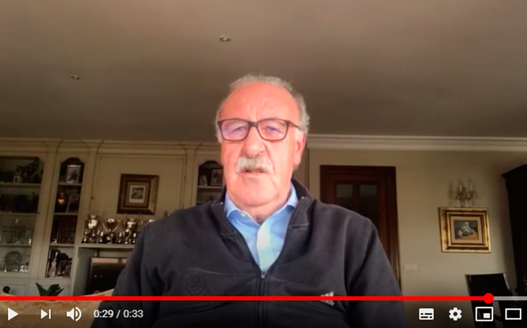 """Vicente del Bosque manda un mensaje de ánimo a los calandinos: """"Espero que hayáis superado el maldito virus"""""""