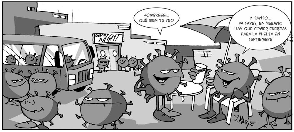 Humor gráfico - covid-19- rebrotes - septiembre