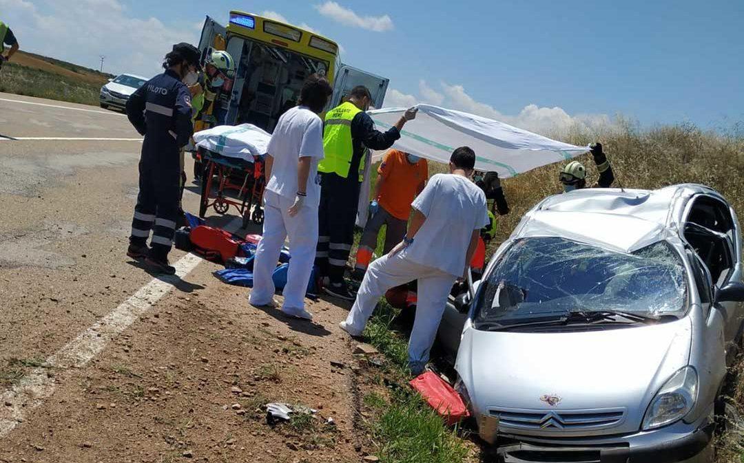 Un hombre resulta herido grave en un accidente en Muniesa