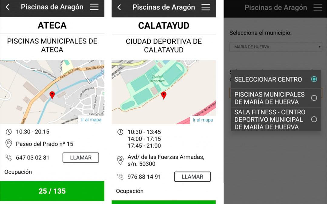 Entra en servicio la 'app' para ver en línea el aforo de las piscinas municipales