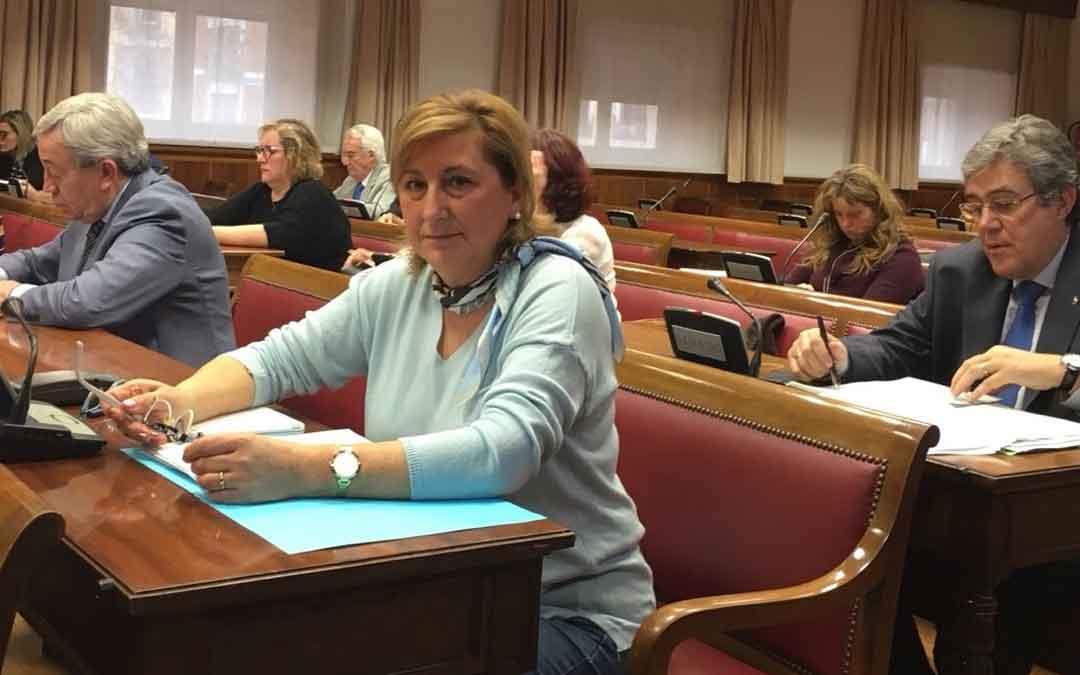 La senadora popular Carmen Pobo en Madrid
