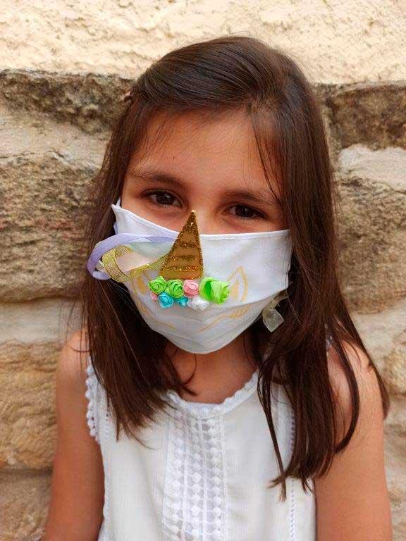 Una de las mascarillas ganadoras del concurso del Ayuntamiento de Caspe.