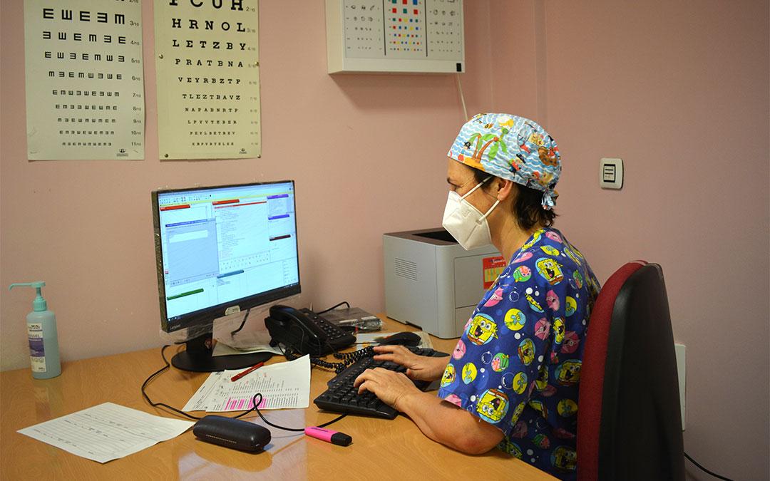 La consulta de Pediatría funciona con normalidad en el centro de salud de Alcañiz./ María Celiméndiz