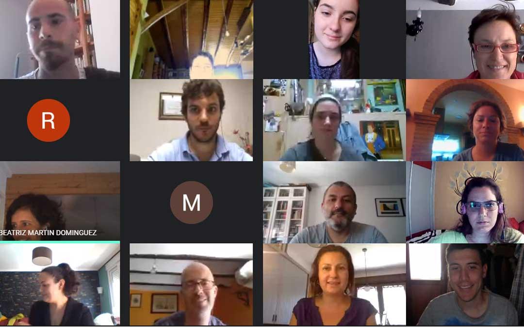 Participantes del curso on line que ha comenzado en la Comarca del Maestrazgo
