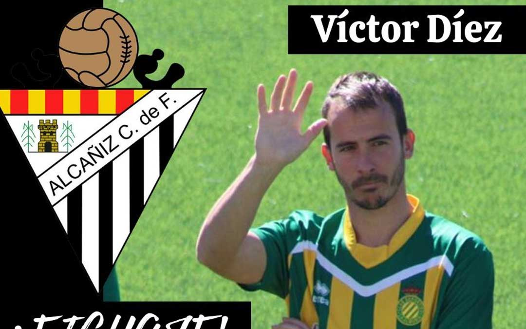 El nuevo jugador del Alcañiz con los colores de su anterior club, La Almunia