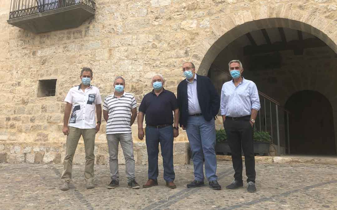 Visita institucional de Rando a Fortanete