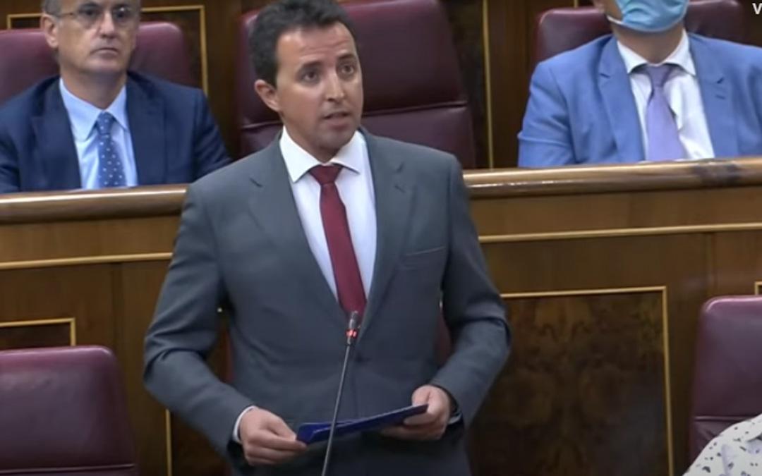 """Alberto Herrero denuncia en el Congreso """"la falta de respuestas"""" para salvar el turismo"""