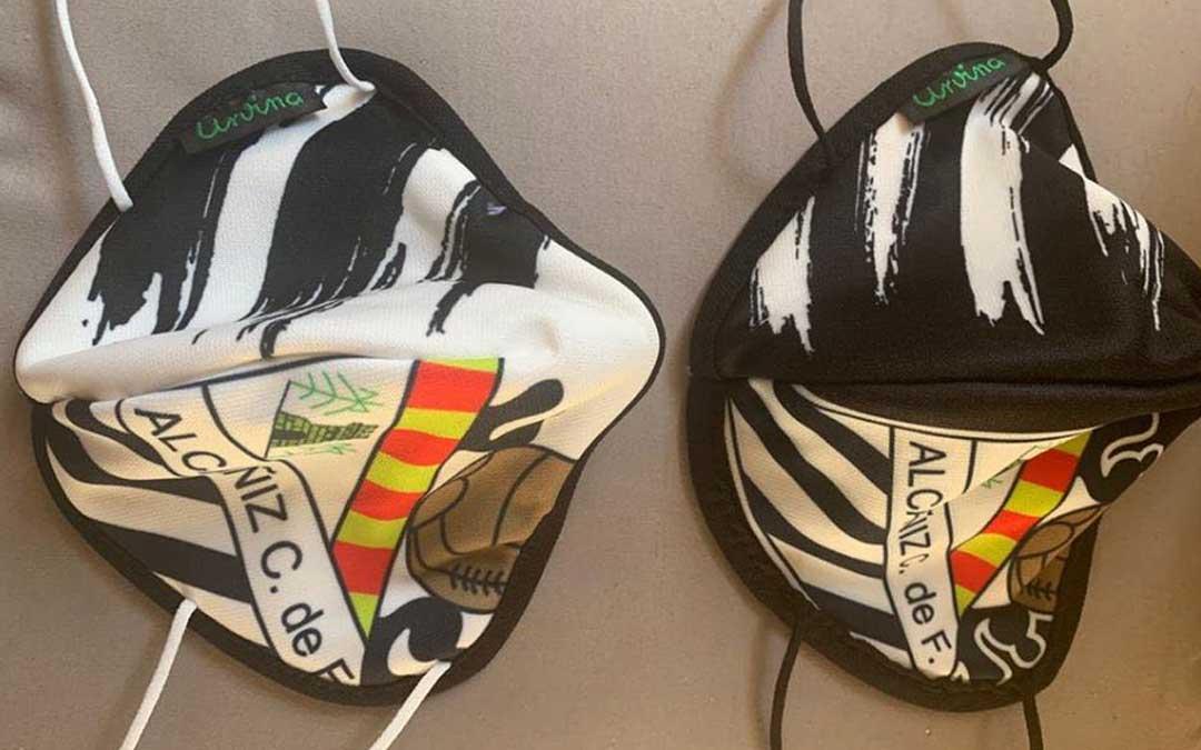 Mascarillas del Alcañiz Club de Fútbol./ L.C.