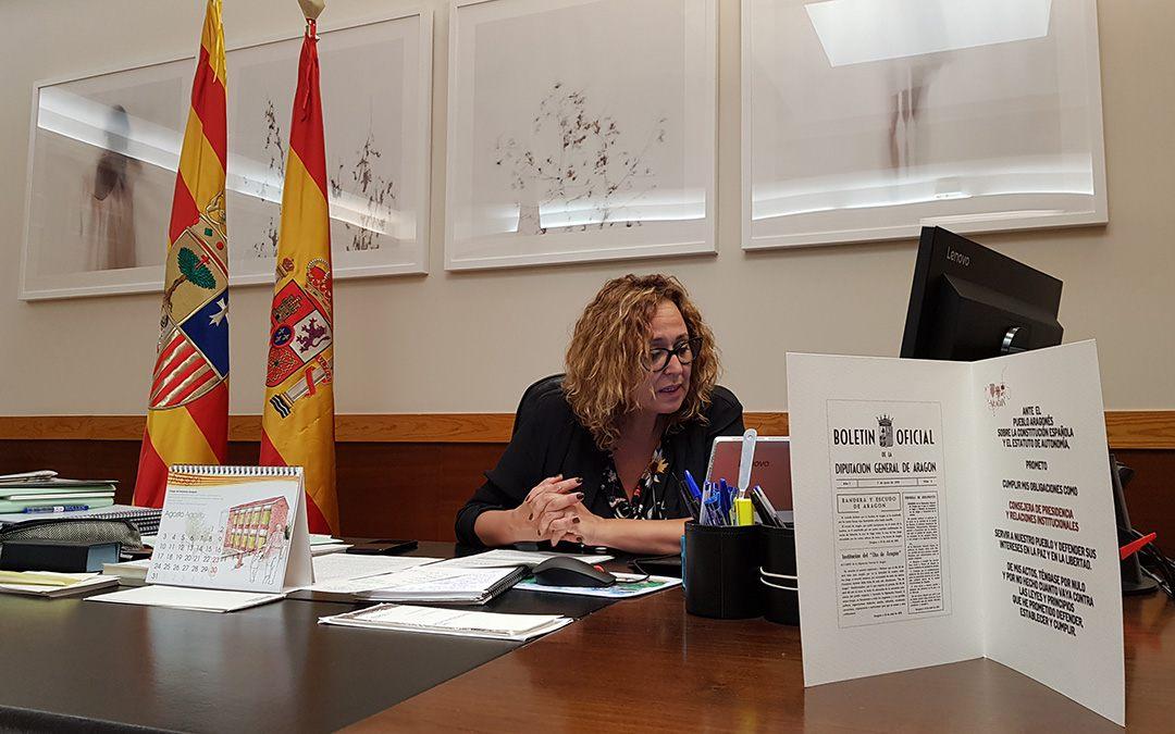 Videconferencia con Carles Esteva, director general adjunto de Ayudas de la Comisión Europea./ DGA