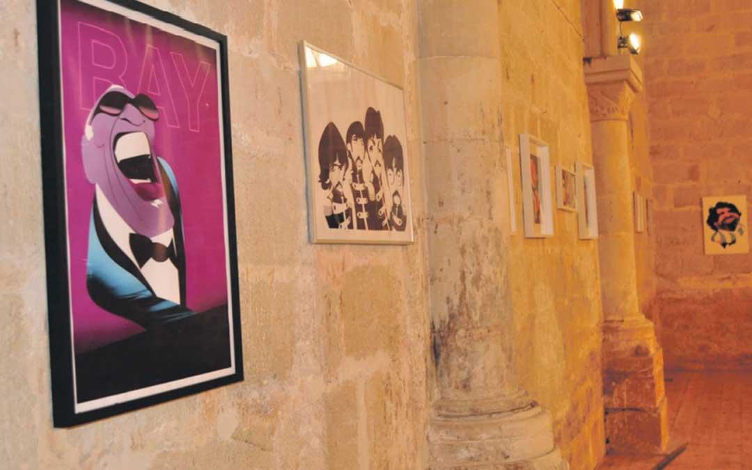 Las caricaturas se encuentran en la antigua ermita de la Virgen de la Fuente, junto a la hospedería.