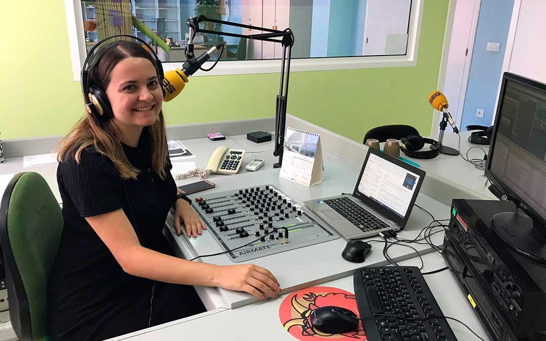 Pilar Sariñena en Radio Caspe