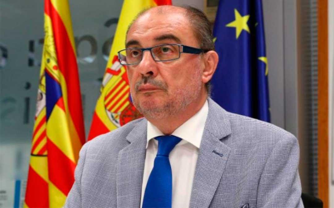 Javier Lambán, presidente de Aragón, durante el foro económico./ DGA