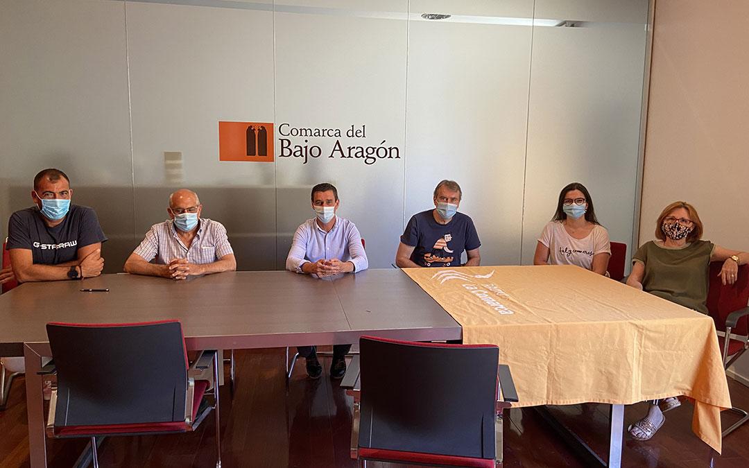Invitados al programa especial de Radio La Comarca emitido desde la Comarca del Bajo Aragón./ L.C.