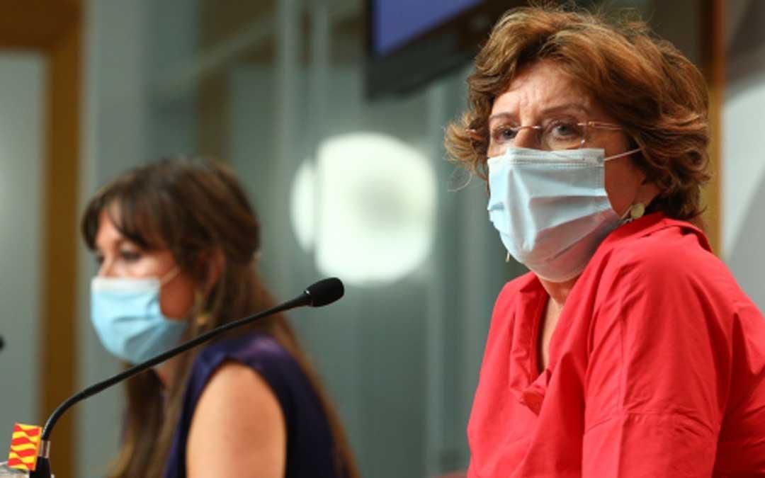 Las consejeras de Sanidad y Ciudadanía en rueda de prensa / DGA