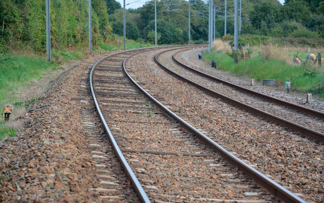 Una vía del tren.