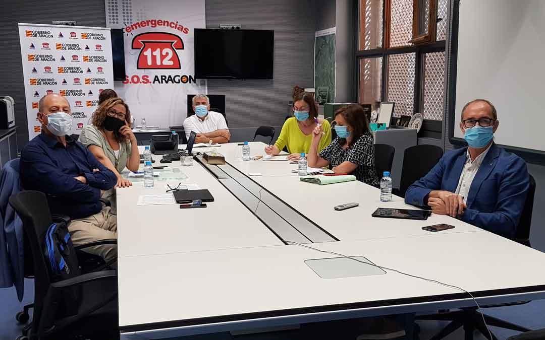Reunión de la UCOCAL ayer en el Gobierno de Aragón.