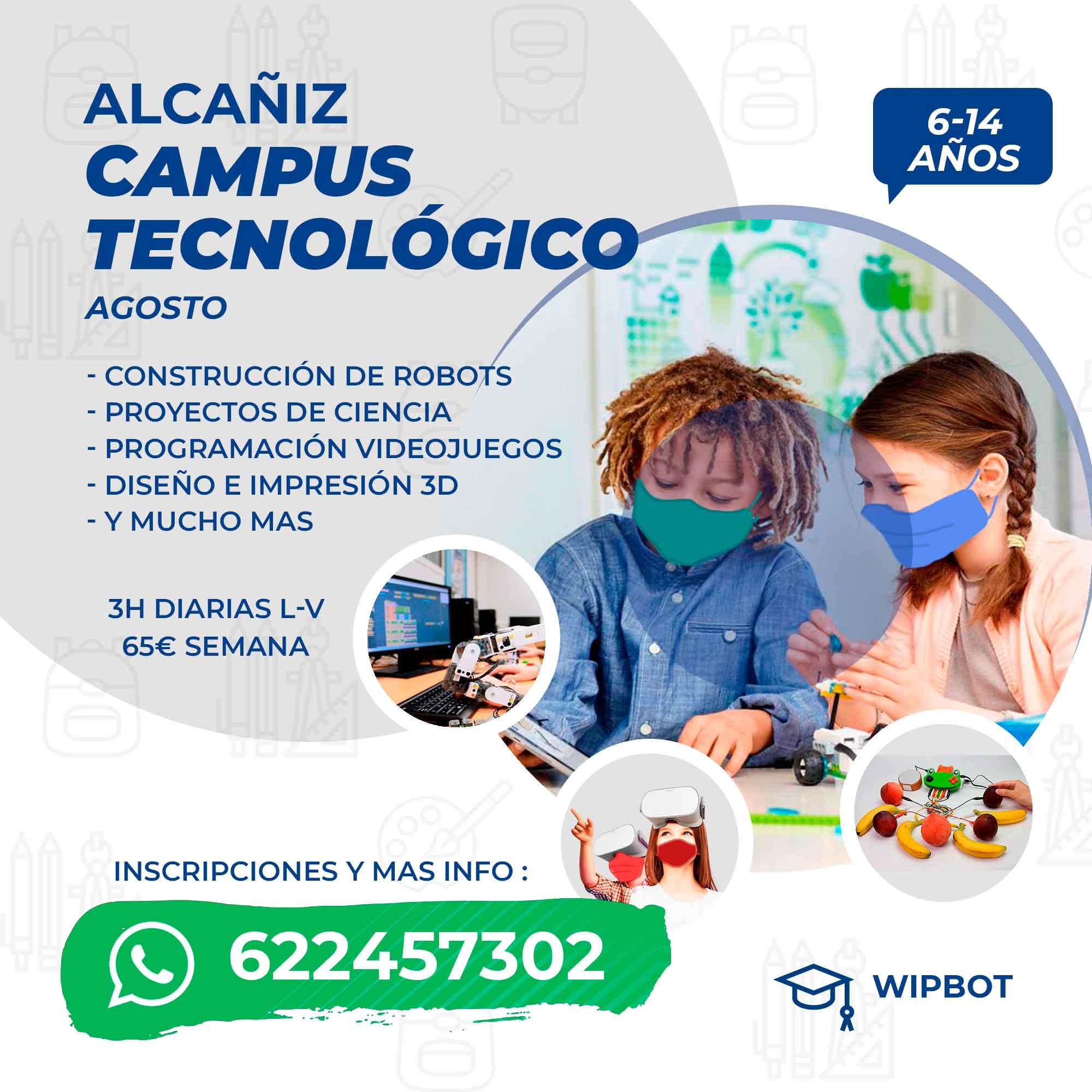 Cartel del campus tecnológico de Alcañiz.