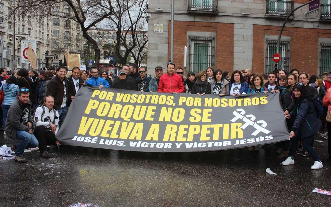 Foto de archivo de los Amigos de Iranzo en la revuelta de la España Vaciada en Madrid en marzo de 2019 / L. Castel