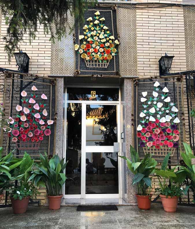 Mención especial: Portal de flores./Comisión de fiestas de Mas de las Matas