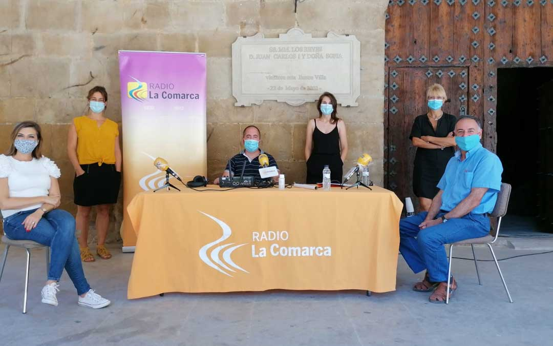 Invitados del programa especial de patrimonio en Calaceite.
