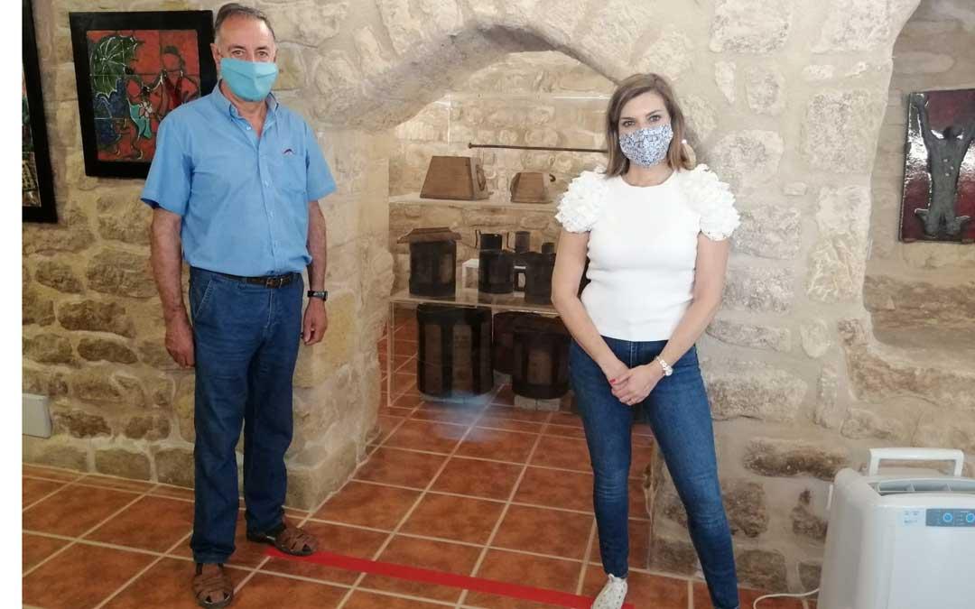 La alcaldesa, Carlota Núñez y el concejal de Cultura José Manuel Anguera
