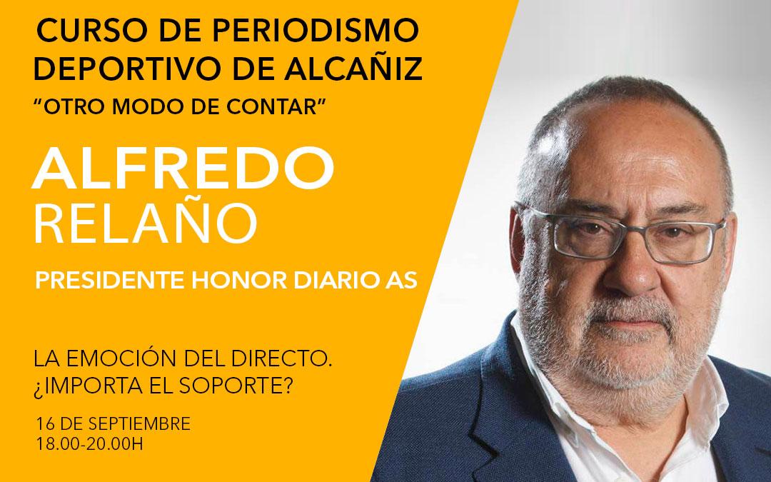 Alfredo Relaño. Curso de periodismo deportivo de Alcañiz./ L.C.