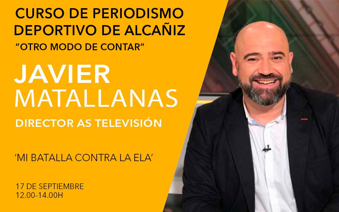 Javier Matallanas. Curso de periodismo deportivo de Alcañiz./ L.C.