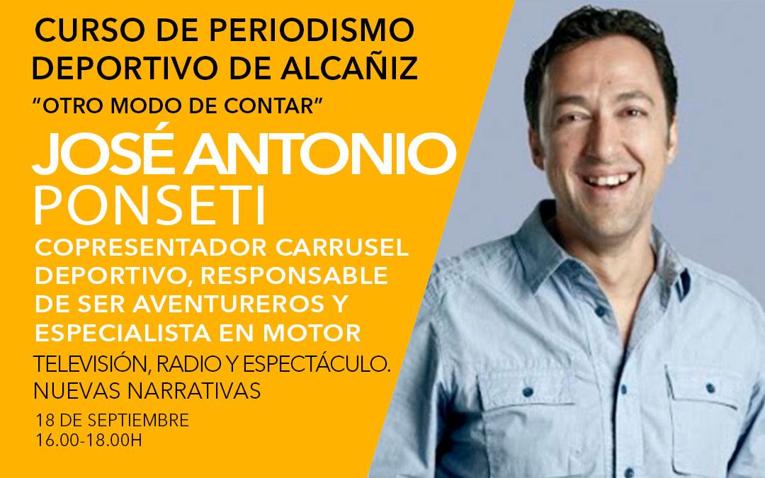 José Antonio Ponseti. Curso de periodismo deportivo de Alcañiz./ L.C.