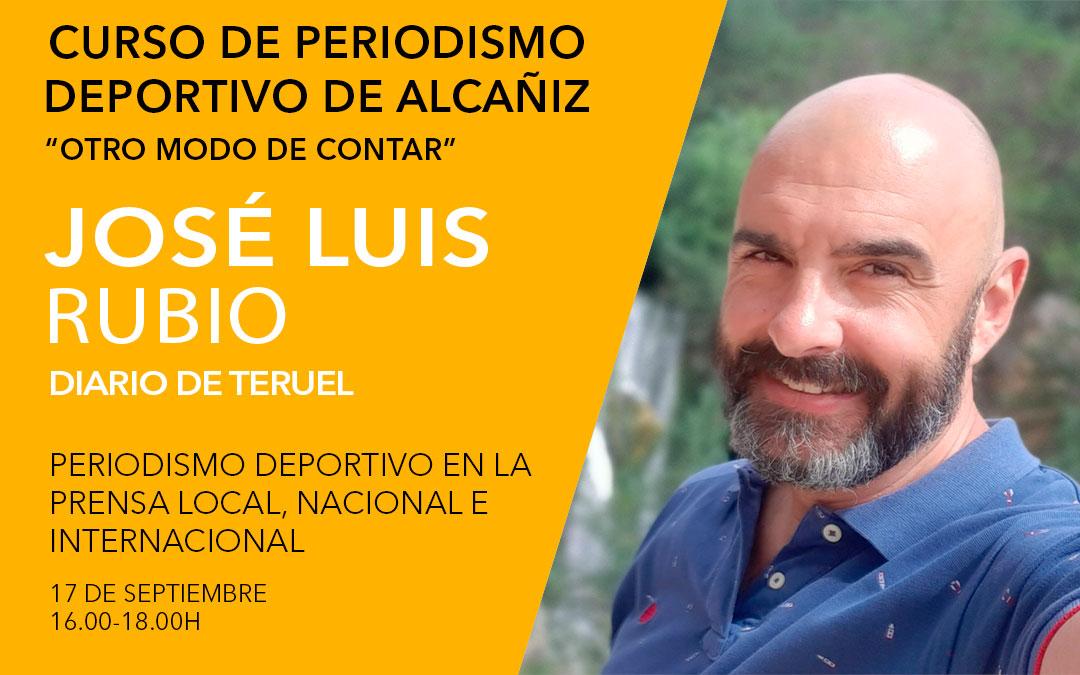 José Luis Rubio./ Curso de periodismo deportivo de Alcañiz./ L.C.