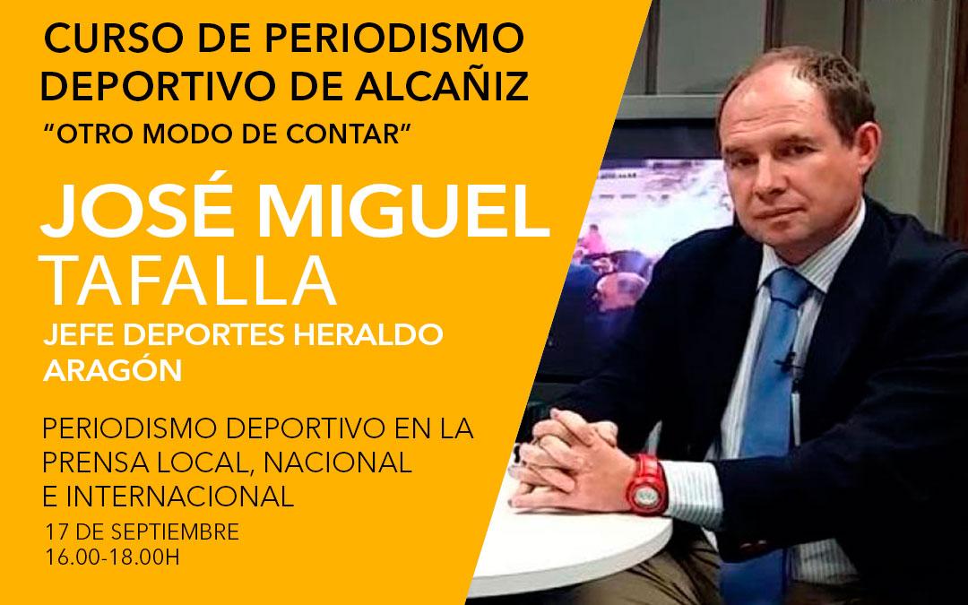 José Miguel Tafalla. Curso de periodismo deportivo de Alcañiz./ L.C.