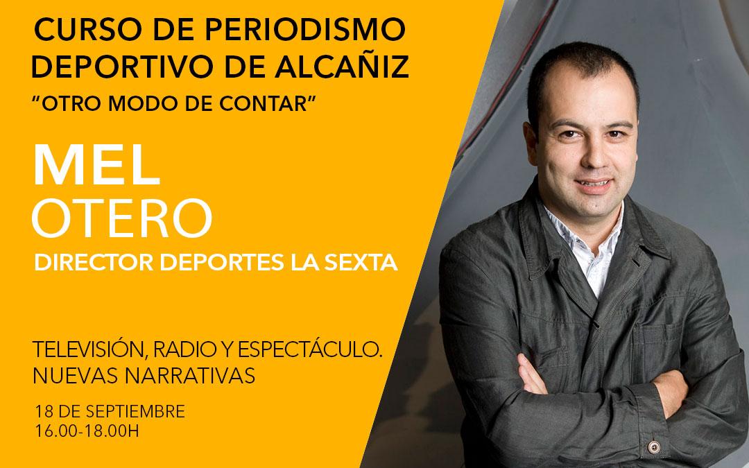 Mel Otero. Curso de periodismo deportivo de Alcañiz./ L.C.