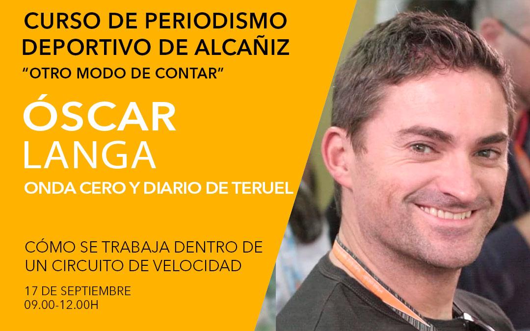 Óscar Langa. Curso de periodismo deportivo de Alcañiz./ L.C.