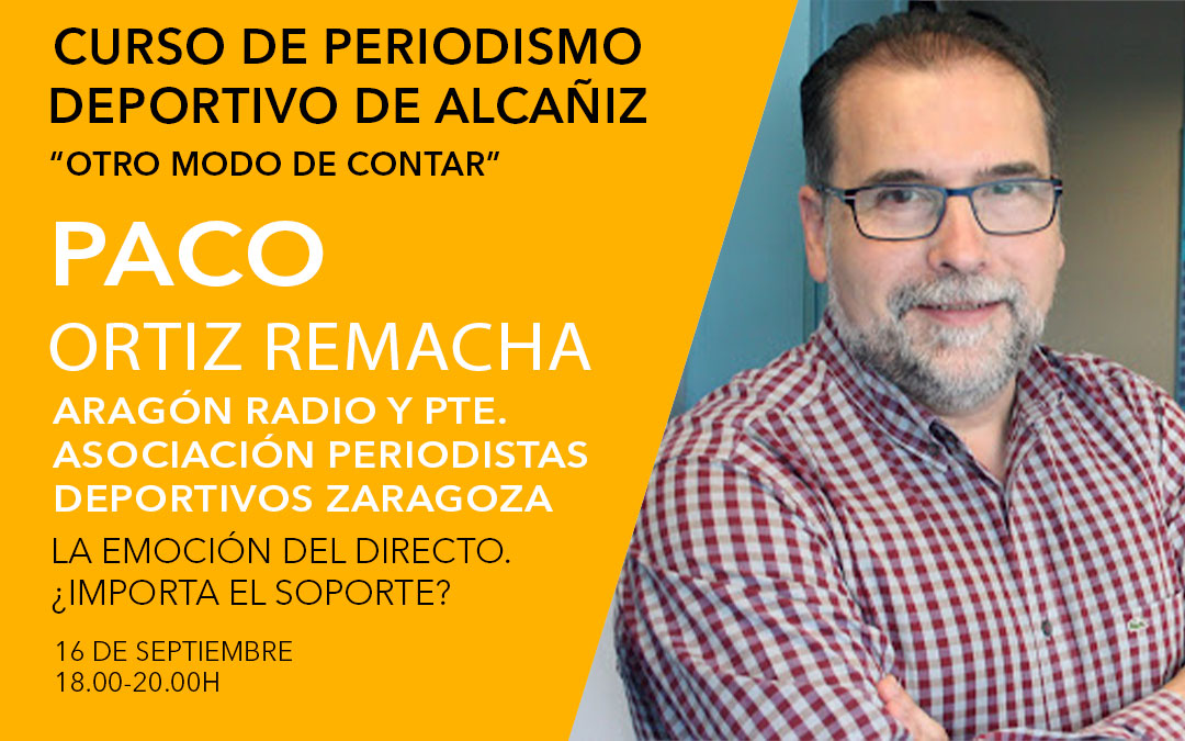 Paco Ortiz Remacha. Curso de periodismo deportivo de Alcañiz./ L.C.