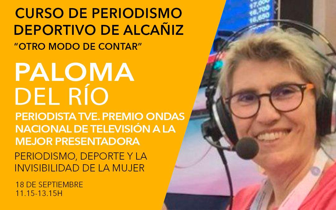 Paloma del Río. Curso de periodismo deportivo de Alcañiz./ L.C.