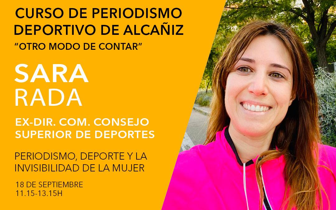 La periodista deportiva Sara Rada. Curso de periodismo deportivo de Alcañiz./ L.C.