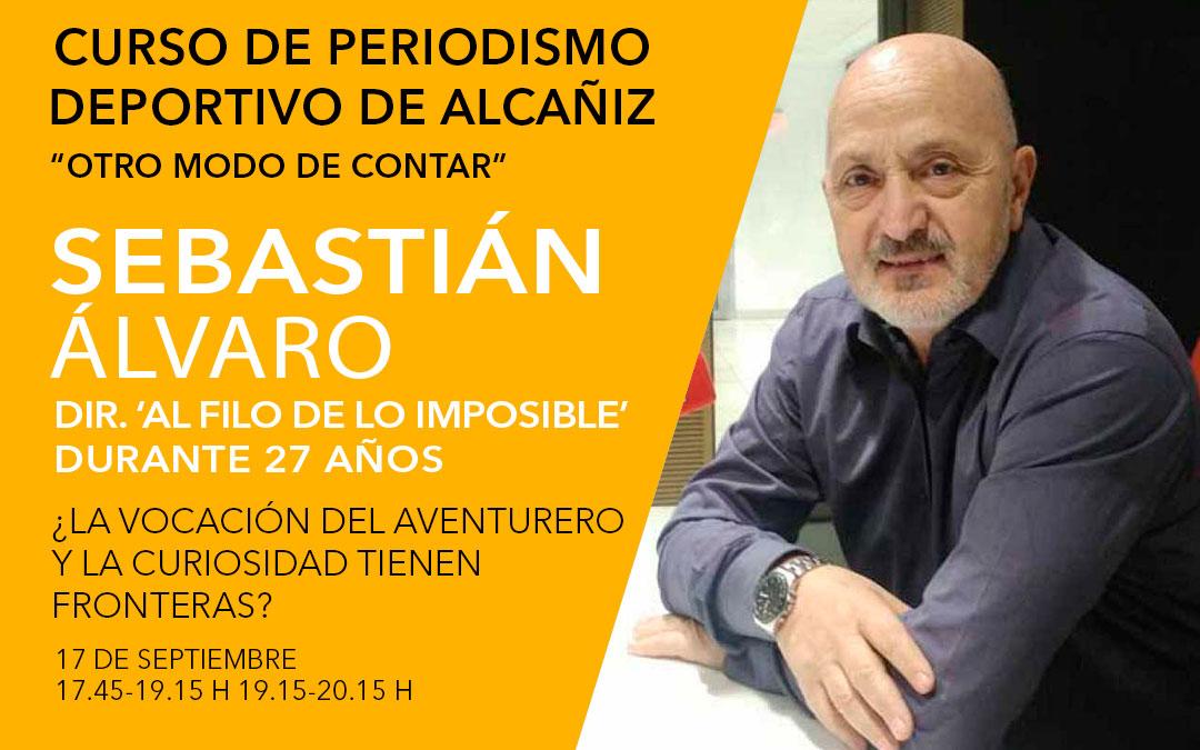 Sebastián Álvaro. Curso de periodismo deportivo de Alcañiz./ L.C.