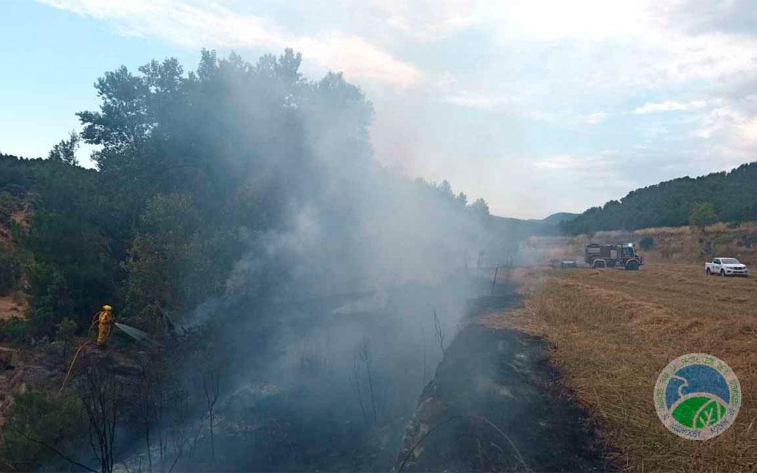 Conato de incendio en Monroyo./ AAPNA