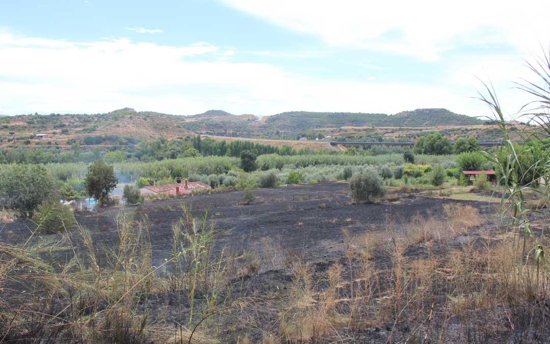 El fuego ha quemado casi dos hectáreas / L. Castel