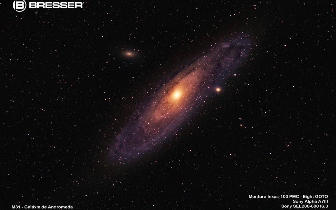 Galaxia de Andrómeda captada con el telescopio Bresser. / Juan Carlos Peguero