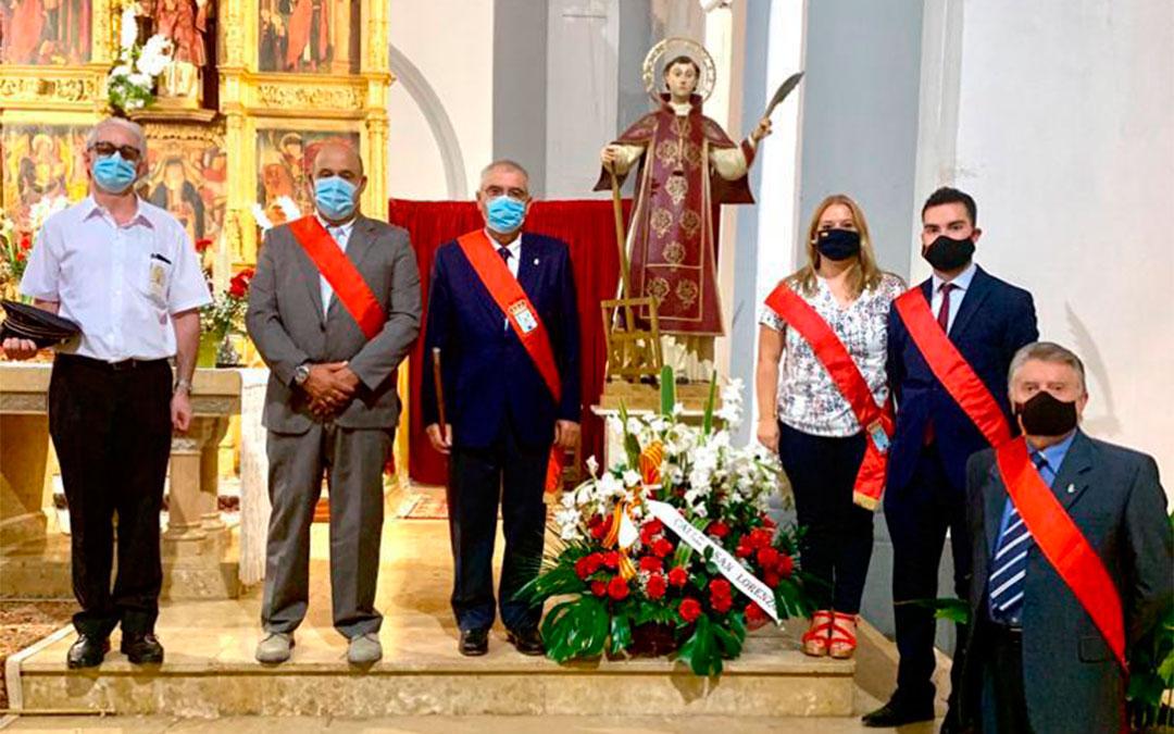 Misa en honor a los patronos de Maella (agosto de 2020)./ L.C.