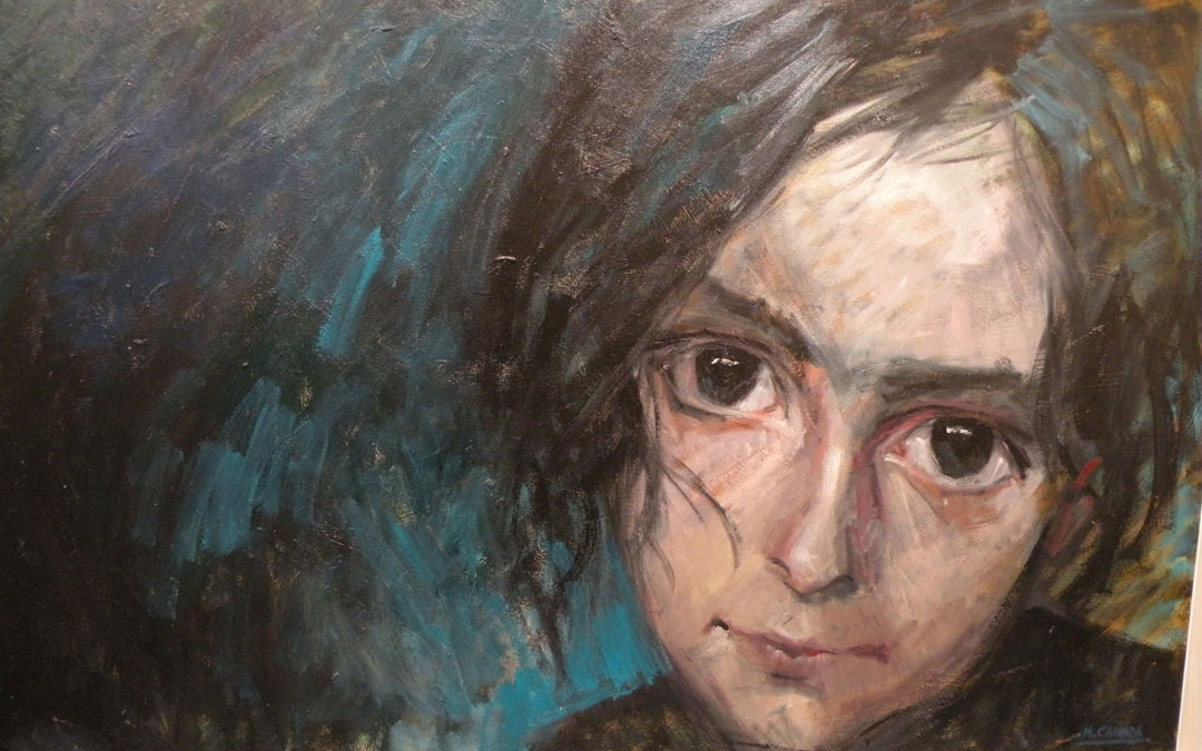 Detalle de uno de sus retratos. / Mariángeles Cañada